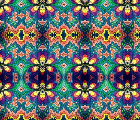 olivia_mirrored fabric by taylorsteele on Spoonflower - custom fabric