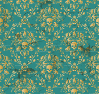 Download Teal And Gold Damask Wallpaper Gallery