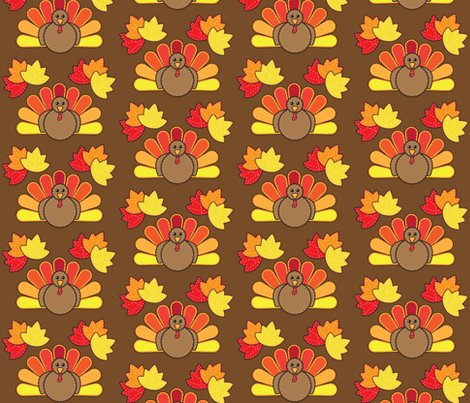 Free Fall Harvest Wallpaper Turkey And Leaves For Thanksgiving Fabric Juliematthews
