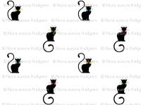 chat noir - colored bowties fabric - elderflower - Spoonflower