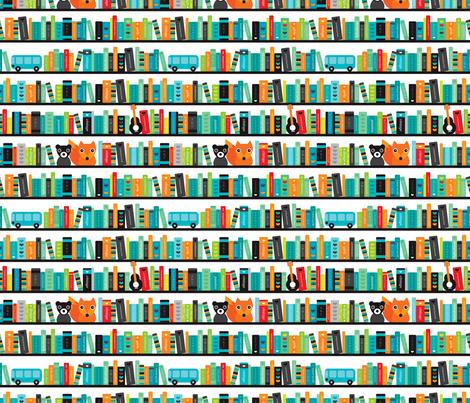Boys ABC fox book shelf pattern fabric - littlesmilemakers ...