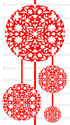 Middle Eastern Chinese Papercut Lanterns fabric  zsmama
