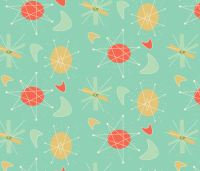 1950s Atomic Pattern fabric - arieltyndell - Spoonflower