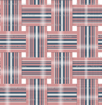 Vintage Lawn Chair Webbing in Navy and Pink fabric
