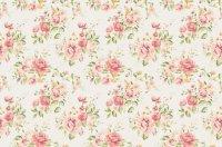 Vintage Rose Floral giftwrap - curlywillowco - Spoonflower