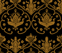 Gothic Damask ~ Cologne ~ Gold and Black fabric ...