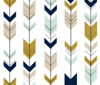Fletching Arrows // Mint/Tan/Gold/Navy fabric ...
