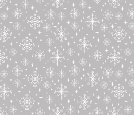 snowflakes grey christmas pattern xmas north pole ornament