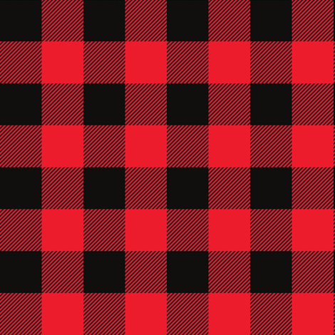 Red Buffalo Check Fabric  Ivieclothco  Spoonflower
