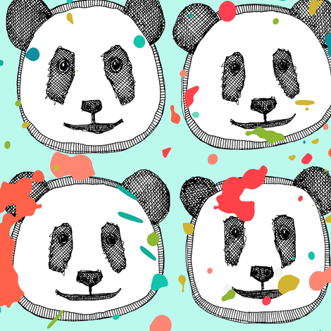 splatter pop panda cookies mint