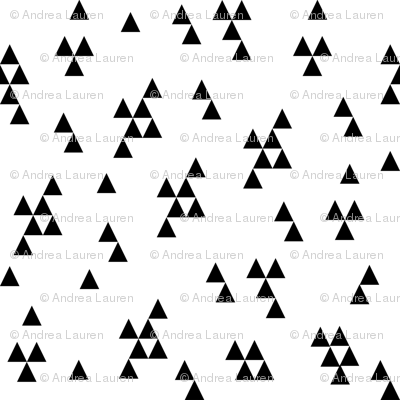 triangle fabric // simple black and white minimal