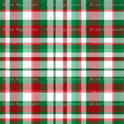 Basic Iphone Wallpaper Christmas Plaid Fabric Argenti Spoonflower