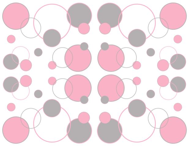 Pink and white polka dot wallpaper border wallpaper for Pink and grey wallpaper