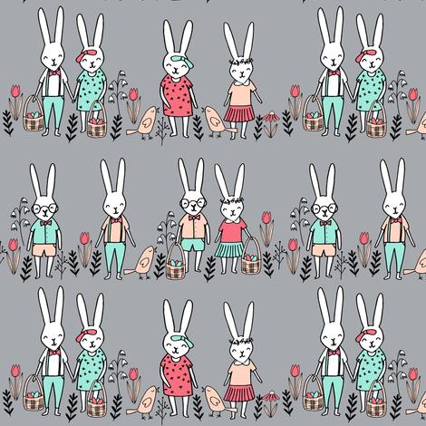 easter egg hunt // bunny rabbit spring grey