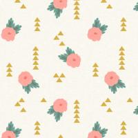 Rustic Charm Floral Geometric Mini wallpaper ...