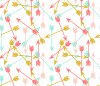 arrows // coral gold mint pink cute girls room girly ...