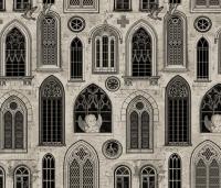 Medieval Gothic Church Windows fabric
