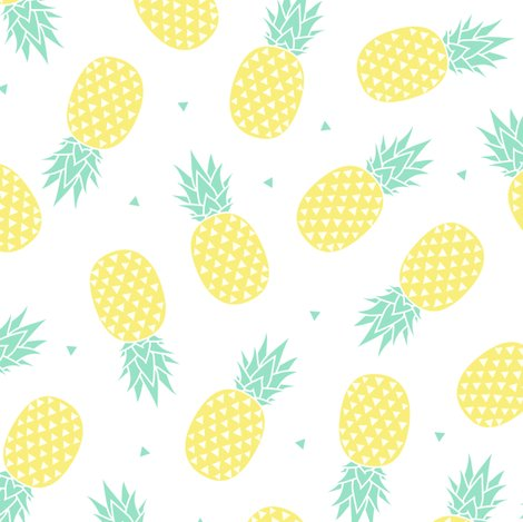 Cute Wallpapers For Laptop With Quotes For 11 Year Olds Pineapple White Background Small Fabric Kimsa