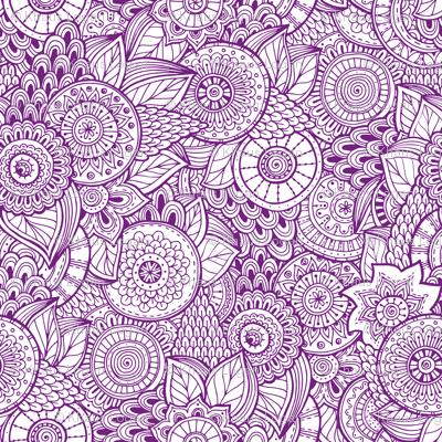 Indian Henna Design Purple fabric  khaus  Spoonflower