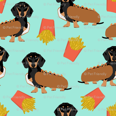 Wallpapers For Computer Cute Trendy Dachshund Hot Dog And Fries Food Funny Dog Costume Cute