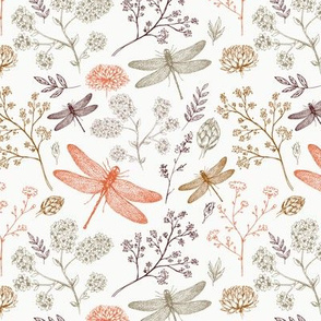 dragonfly fabric wallpaper home
