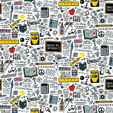 doodled school supplies mini