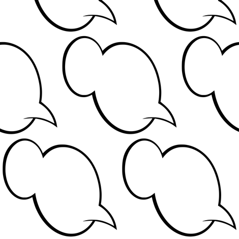 speech_balloon_cloud_white_and_Black_outline fabric