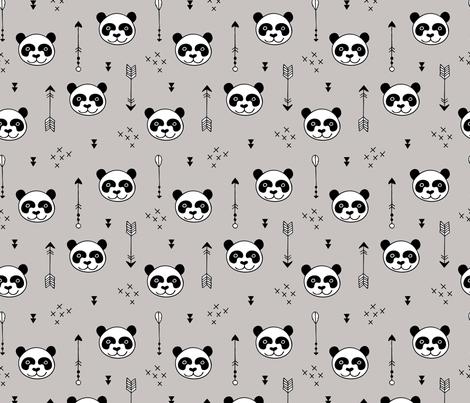 Sweet little baby panda geometric crosses and arrows