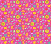Spring Showers pink wallpaper - woo_hoo_design - Spoonflower