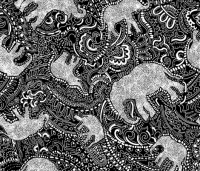 Paisley-Power-white-elephant-print-fabric-design fabric ...