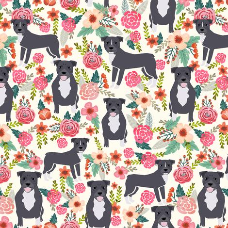 Pitbulls Fall Wallpaper Pitbull Pitbull Terrier Fabric Pitbulls Florals Flowers