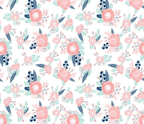 Cute Fat Baby Wallpapers Florals Flower Baby Girl Fabric Baby Nursery Girls Fabric