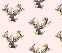 Floral Rustic Deer - Floral Dreams wallpaper - shopcabin ...
