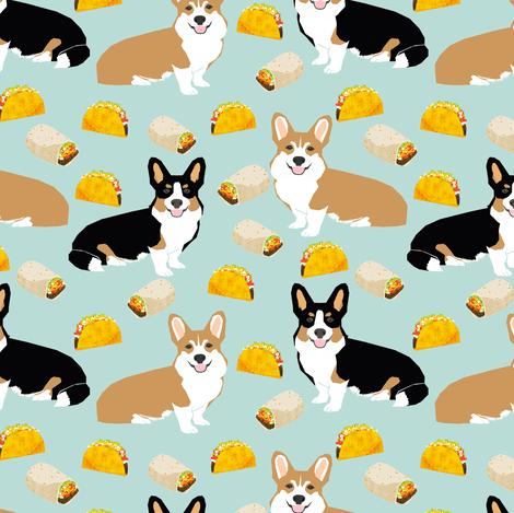 Fall Pug Wallpaper Corgi Tacos Corgi Burritos Dog Fabric Cute Dogs Design