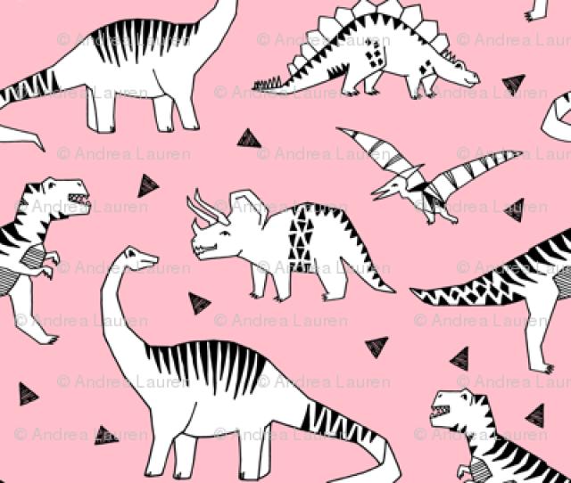 Dinosaurs Pink Dino Fabric Jurassic Prehistoric Dino Fabric Girls Baby Dinosaur Design