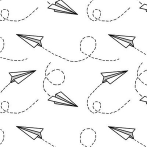 paper airplane fabric wallpaper