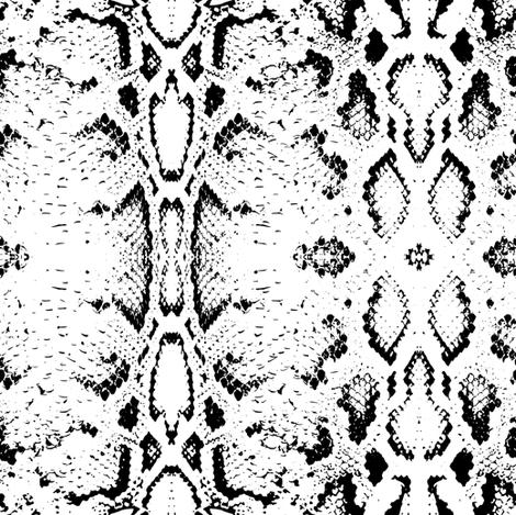 Snake skin texture. Seamless pattern black on white