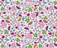 Spring Garden - Pink wallpaper - whyitsme_design - Spoonflower