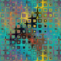 PEBBLE SQUARES MOSAIC LAVA LAMP EMERALD TEAL PSYCHEDELIC