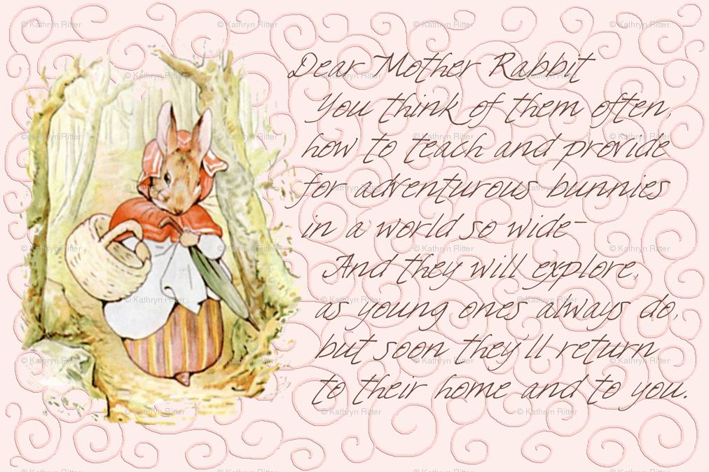 mother rabbit peter rabbit