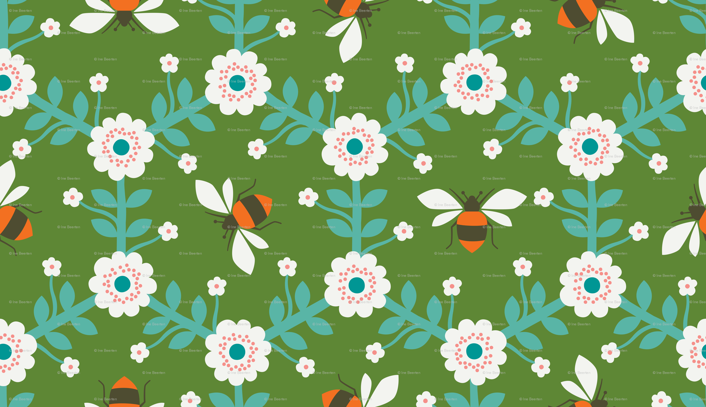 beeeeezzz wallpaper zesti spoonflower