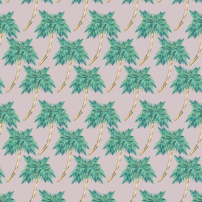 Palm Leaves Wallpaper Vintage Golden Girls Miami Fabric Wallpaper Amp Gift Wrap Spoonflower