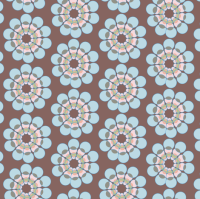 Mid-Century modern flower || Geometric floral Blue pink ...