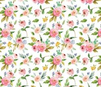 Spring Pink Florals wallpaper - hipkiddesigns - Spoonflower