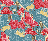 Spanish Tile Mosaic fabric - mag-o - Spoonflower