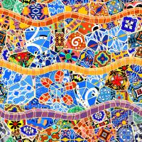 Spanish Tile Mosaics wallpaper - elramsay - Spoonflower