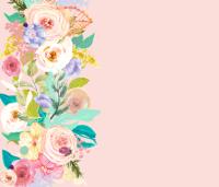 Pastel Garden Spring Floral Border // Light Peachy Pink ...