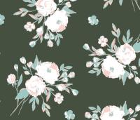 Rustic Floral-Olive and Mint wallpaper - scarlette_soleil ...