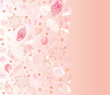 Fall Wallpapers In Pink Color Watercolor Border Seashell Nautical Sea Shell Pastel