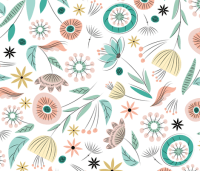1950's Floral - Spring White wallpaper - sarah_treu ...